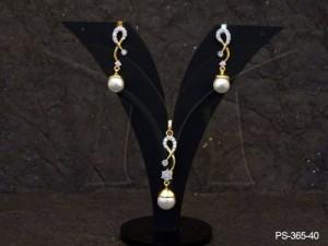 Ad Jewellery , Ampersand Designed Ad Pendant Set | Manek Ratna