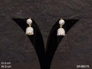 Ad Jewellery , Bell Drop Shape Ad Earrings | Manek Ratna