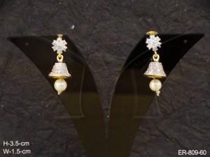 Ad Jewellery , Bell Moti Ad Earrings | Manek Ratna