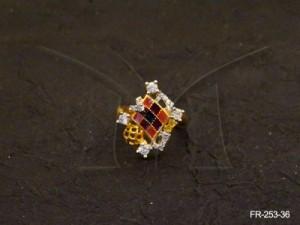 Ad Jewellery , Cross Cheacks Diamond Shaped Ad Finger Rings | Manek Ratna