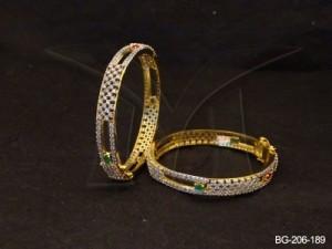 Ad Jewellery , Cross Checks Embossed Ad Bangles | Manek Ratna