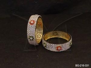 Ad Jewellery , Cross Style Flower Ad Bangles | Manek Ratna