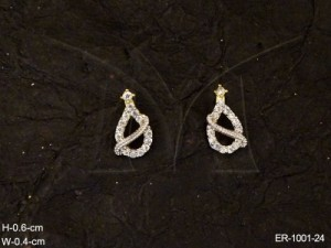 Ad Jewellery , Crossed Water Droplet Symbol Ad Earrings | Manek Ratna