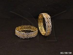 Ad Jewellery , Curvy Broad Shaped Ad Bangles | Manek Ratna