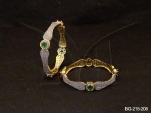 Ad Jewellery , Cusion Segmented Girly Ad Bangles | Manek Ratna