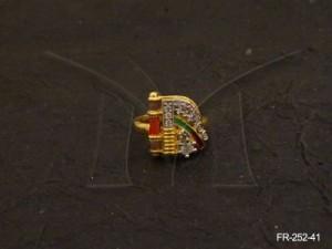 Ad Jewellery , D Shaped Clipped Ad Finger Rings | Manek Ratna