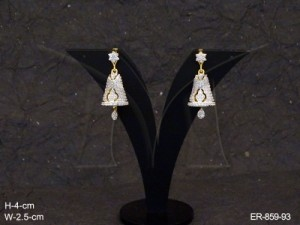 Ad Jewellery , Decorated Bell Ad Earrings | Manek Ratna