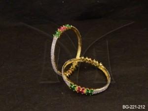 Ad Jewellery , Delicate Flowery Ad Bangles | Manek Ratna