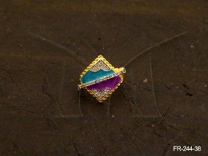 Ad Jewellery , Diamond Shape Ring Wrapped Ad Finger Rings | Manek Ratna