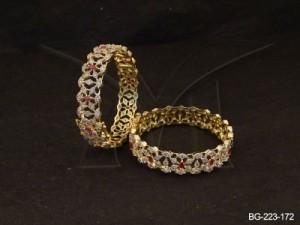 Ad Jewellery , Diamond Web Designed Ad Bangles | Manek Ratna