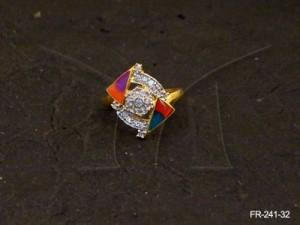 Ad Jewellery , Double Cross Triangular Ad Finger Rings | Manek Ratna