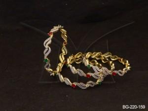 Ad Jewellery , Dual Reptile Design Ad Bangles | Manek Ratna