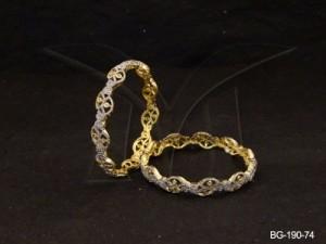 Ad Jewellery , Eye Shaped Delicate Ad Bangles | Manek Ratna