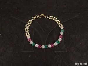 Ad Jewellery , Flower Double Fead Ad Bracelet | Manek Ratna