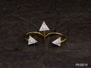 Ad Jewellery , Gold Rings With Diamond With Trikoni Ad Finger Rings | Manek Ratna