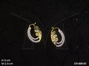 Ad Jewellery , Half Bali Finger Grip Ad Earrings | Manek Ratna