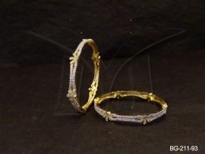 Ad Jewellery , Half Flowery Party Wear Ad Bangles | Manek Ratna