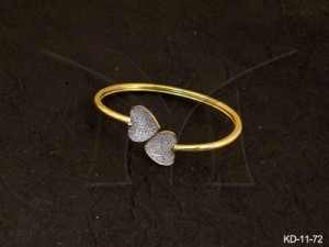 Ad Jewellery , Heart Ended Joined Ad Kada | Manek Ratna