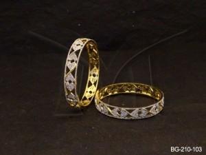 Ad Jewellery , Heartly Diamond Shaped Ad Bangles | Manek Ratna