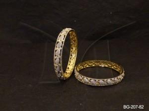 Ad Jewellery , Kairi Filled Designed Ad Bangles | Manek Ratna