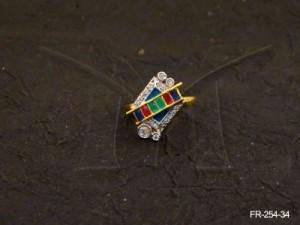 Ad Jewellery , Ladder Square Shaped Ad Finger Rings | Manek Ratna