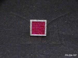 Ad Jewellery , Latest Queen Squre Ad Finger Rings | Manek Ratna