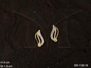 Ad Jewellery , Leaf Pettled Shaped Office Wear Ad Earrings | Manek Ratna