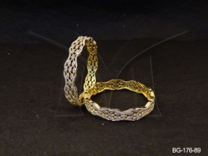 Ad Jewellery , Linked Seeds Twisted Party Wear Bangles | Manek Ratna