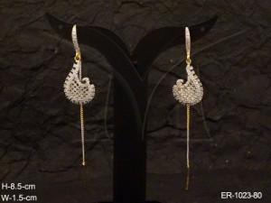 Ad Jewellery , Mango Shaped Drop Ad Earrings | Manek Ratna