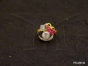 Ad Jewellery , Marine Designed Ad Finger Ring | Manek Ratna