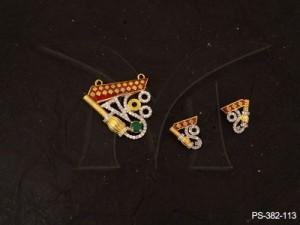 Ad Jewellery , Meena Traditional Ad Mangalsutra | Manek Ratna