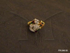 Ad Jewellery , Moon Stars Fusion Ad Finger Rings | Manek Ratna