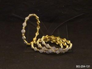 Ad Jewellery , Multi Diamond Shaped Joint Ad Bangles | Manek Ratna