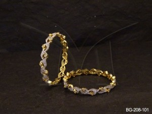 Ad Jewellery , Multi Free Style Decored Ad Bangles | Manek Ratna