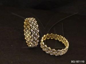 Ad Jewellery , Multi Leaves Broad Ad Bangles | Manek Ratna