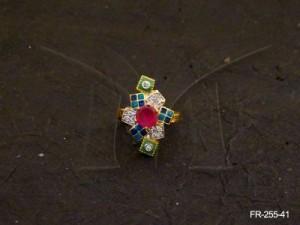 Ad Jewellery , Multi Square Flower Ad Finger Rings | Manek Ratna