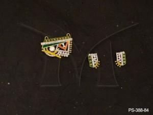 Ad Jewellery , Old Fan Designed Mangalsutra Ad Pendant Sets | Manek Ratna