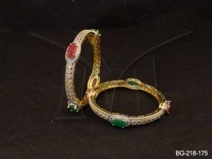 Ad Jewellery , Oval Beads Ad Bangles | Manek Ratna