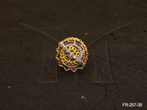 Ad Jewellery , Round Spiral Polo Ad Finger Ring | Manek Ratna