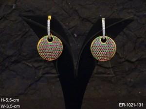 Ad Jewellery , Round Stylish Ad Earrings | Manek Ratna