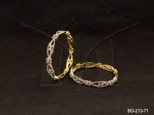 Ad Jewellery , Seed Curvy Designed Ad Bangles | Manek Ratna