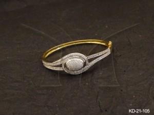 Ad Jewellery , Shell Designed Ad Kada | Manek Ratna