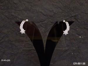 Ad Jewellery , Single Side Pettals Flower Ad Earrings | Manek Ratna