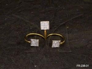 Ad Jewellery , Squreist Fab  Three Simulated Diamond Ad Finger Rings | Manek Ratna