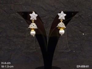 Ad Jewellery , Star Bell Moti Ad Earrings | Manek Ratna