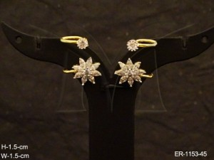 Ad Jewellery , Sunflower Office Wear Delicate Ad Earrings | Manek Ratna