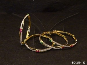Ad Jewellery , Thin Dress Wear Delicate Ad Bangles | Manek Ratna
