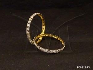 Ad Jewellery , Tiny Paan Designed Ad Bangles | Manek Ratna