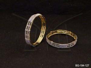 Ad Jewellery , Tri Layered Party Wear Ad Bangles | Manek Ratna