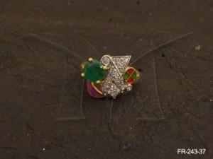 Ad Jewellery , Triangle Arrow Ad Finger Rings | Manek Ratna
